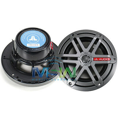 "NEW JL AUDIO® MX650-CCX-SG-TB 6.5"" 2-Way MARINE COAXIAL SPEAKERS TITANIUM/BLACK"