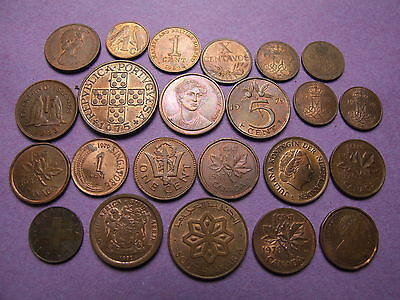 Collection Of Uncirculated World Copper & Bronze Coins -  High Grade , Lustre