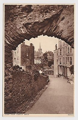Nice Old Card Of Tenby Pembrokeshire Around 1950