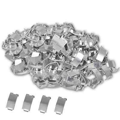 500 pcs Nato Razor Wire Fencing Netting Clips Dovetail Joint Galvanized Steel