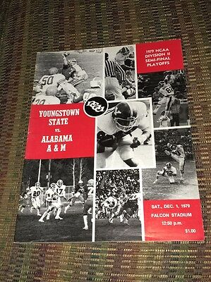 1979 Youngstown State Vs Alabama A&M NCAA DII Semi Finals Game Program