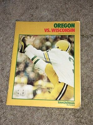 1977 Oregon Vs Wisconsin College Football Game Program Touchdown Illustrated