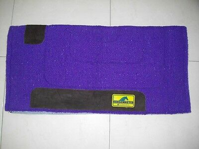 HorseMaster Felt Lined Cotton Western Saddle Pad Cloth Blanket - Purple - EUC