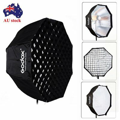 AU GODOX 80cm Octagon Softbox With Honeycomb Grid Cover For  Studio Strobe Flash