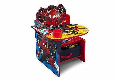 Delta Marvel Spiderman Desk with Chair and Toy Storage Bin Box Organizer NEW NIB