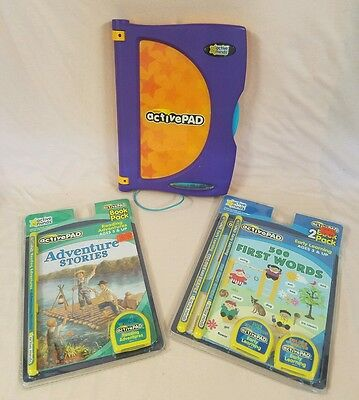 ACTIVEPAD active minds LEARNING SYSTEM~ PAD,  BOOKS, 3 CARTRIDGES, INSTRUCTIONS