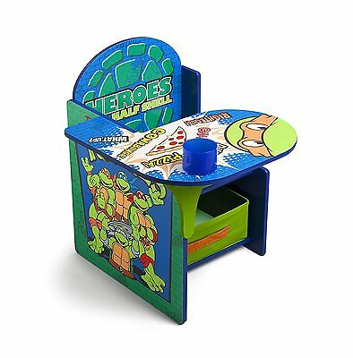 Delta Ninja Turtles TMNT Desk with Chair Toy Storage Bin Box Organizer NEW NIB