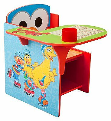 Delta Sesame Street Elmo Desk with Chair Toy Storage Bin Box Organizer NEW NIB