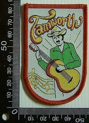 Vintage Tamworth Nsw Embroidered Souvenir Patch Woven Cloth Sew-On Badge