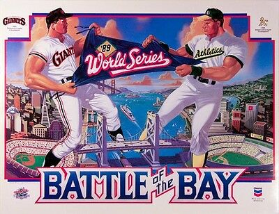 1989 Battle of the Bay SF Giants & Oakland A's Poster!!