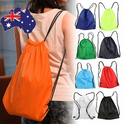 Drawstring Bag/Sack/Backpack/RuckSack Waterproof Swim School Sport Gym NEW GT