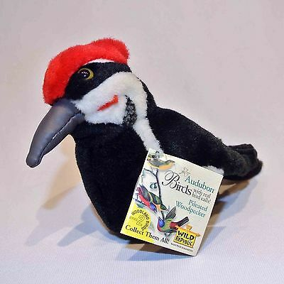 Audubon Pileated Woodpecker plush toy with real bird call by Wild Republc