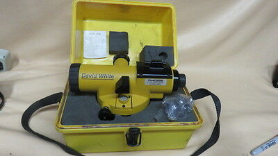 David White Al8-26 Automatic Level With Case For Contractor Property Surveyor