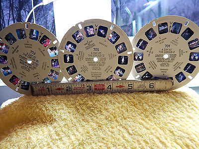 3- Sawyer's View Master Reels  A Day At The Circus 701,702,703,Ringling Brothers