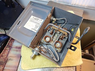 Used Square D 97311 Series A2- 30amp Vintage Duel Screw-In  Fuse Box