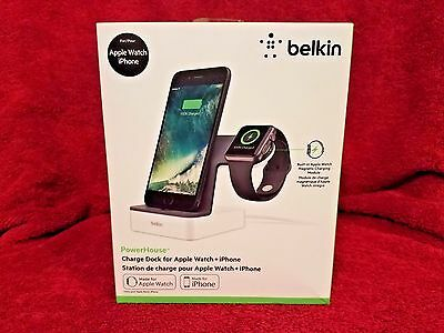 Belkin PowerHouse Charge Dock for Apple Watch iPhone White Free Shipping NEW