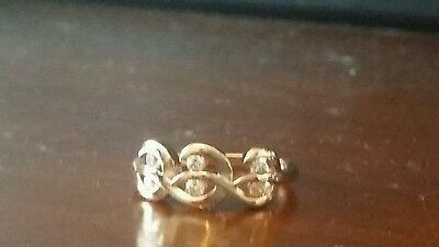 18ct Gold Solid Gold Filled 1.0 Ct Created American Diamond Ring  Size 6