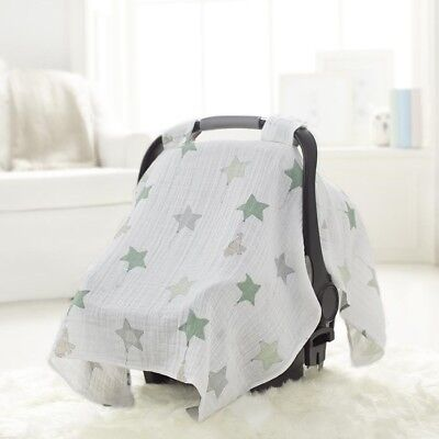 Baby Car Seat Capsule Canopy by Aden + Anais Cotton Muslin Up Up And Away Cover