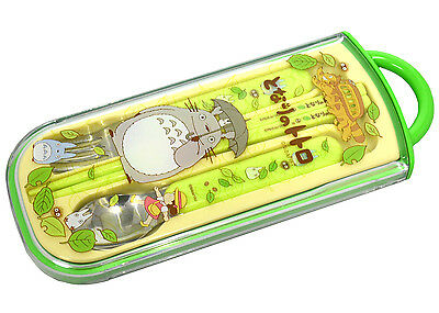 My Neighbor Totoro Portable Bento Fork Spoon Chopsticks and Case Made in Japan