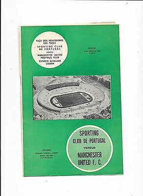 Sporting Lisbon v Manchester United European Cup Winners Cup 18/3/1964
