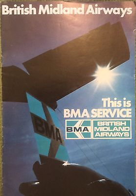 British Midland Airways BMA Inflight Booklet Early '70s