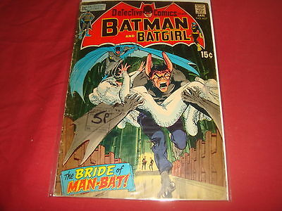 DETECTIVE COMICS feat. BATMAN BATGIRL #393  Adams Man-Bat  DC Comics 1970 G/VG