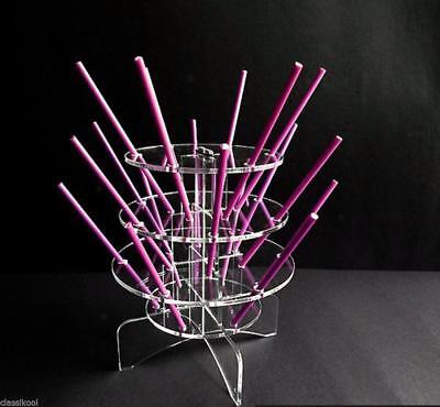 18-Hole Acrylic Cake Pop Lollipop Clear Display Stand Server Decoration