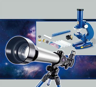 Kids Astronomical Telescope & Microscope Set Childrens Educational Science Toy