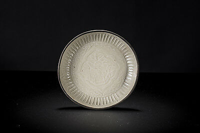 Important Northern Song dynasty Ding moulded palace scene small dish