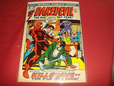 DAREDEVIL #88  Black Widow Purple Man  Bronze Age Marvel Comics 1972 FN
