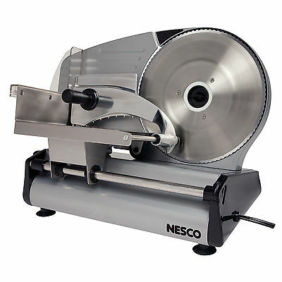 Electric Meat Slicer Food Cheese Deli Stainless Steel Blade Slice Cutter Sliding