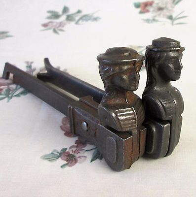 2x VINTAGE FRENCH LADY HEAD WINDOW SHUTTER STOP DOG HOLD BACK LATCH LOCK ANTIQUE