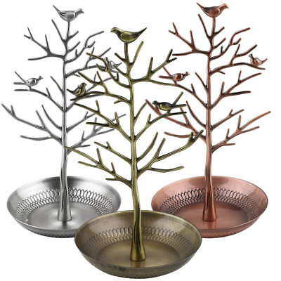 Retro Tree Jewelry Earrings Ring Holder Show Rack Necklace Display Stand Unique