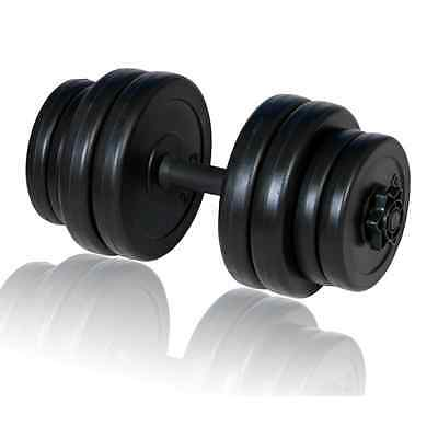 S# New 15KG Dumbbell Weight Set Home Gym Fitness Adjustable Exercise Equipment