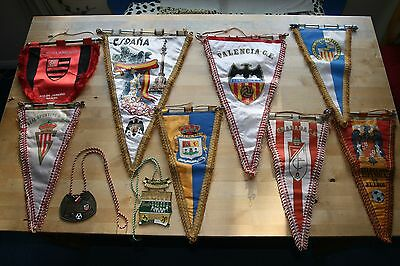 Collection of vintage football pennants collectables
