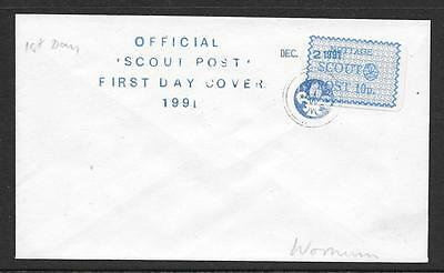 1991 OFFICIAL 10p SCOUT POST FIRST DAY COVER