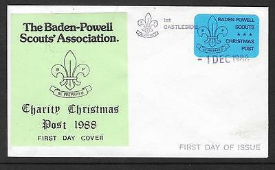 1988 Baden Powell Charity Charity Christmas Post Castleside