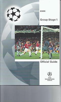 Champions League Group Stage 1  Offical Guide 1999/00