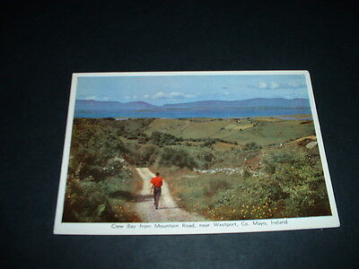 IRISH  POSTCARD  CLEW BAY FROM MOUNTAIN ROAD WESTPORT Co MAYO