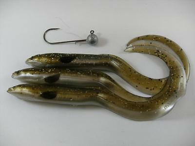 New Olive Sparkle Pearl 15Cm Savage Gear Real Eel Lure Pike Perch Zander Fishing