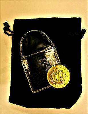 1966 Halfpenny 24K Gold Plated Unc in black velvet pouch World Cup Year