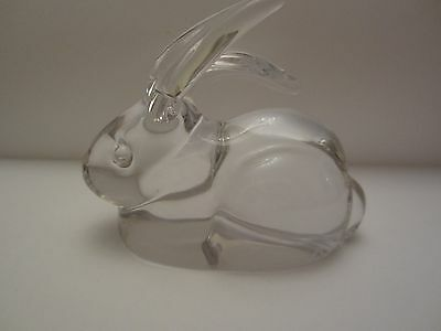 """Authentic Daum France Glass Crystal Rabbit 4"""" Rare, priced to sell."""