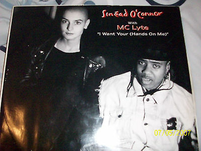 """Sinead O'Connor & MC Lyte - I Want Your (Hands On Me) - Remix 12"""" Vinyl"""