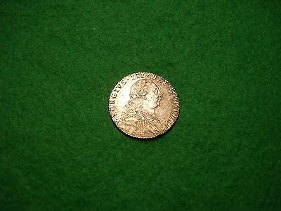 1787 SILVER SIXPENCE GEORGE 111 WITH HEARTS high grade FREEPOST