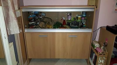 Large Vivexotic Vivarium and Cabinet and accessories