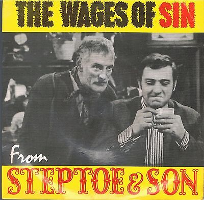 """Steptoe & Son """"the Wages Of Sin"""" 1963 7"""" Comedy Single. Vg+."""