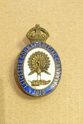 1915 Special Constable Badge Leicester County