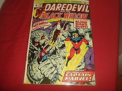 DAREDEVIL AND THE BLACK WIDOW #107  last Widow  Marvel Comics 1974 FN