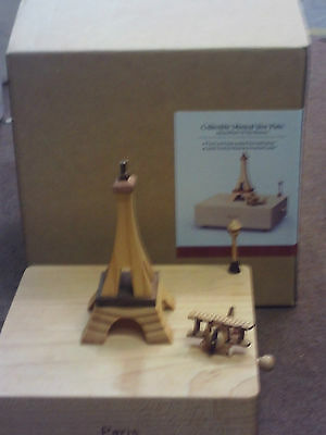 collectible musical box paris new in box