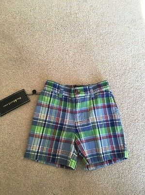 Boys Checked Shorts By Polo Ralph Lauren Age 12 Months New